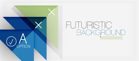 Minimalistic triangle modern banner design, geometric abstract background. Vector hi-tech futuristic Stock Illustratie