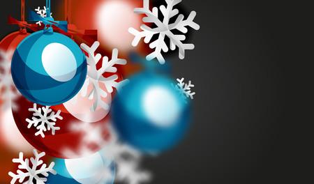 Christmas ball greeting card design. Illustration