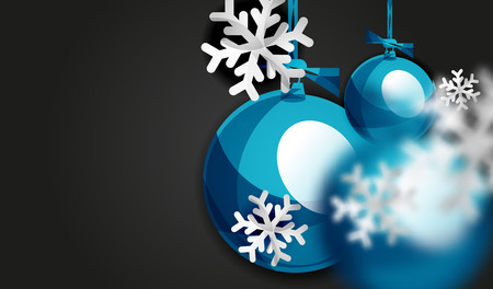 Christmas ball greeting card, New Year Illustration