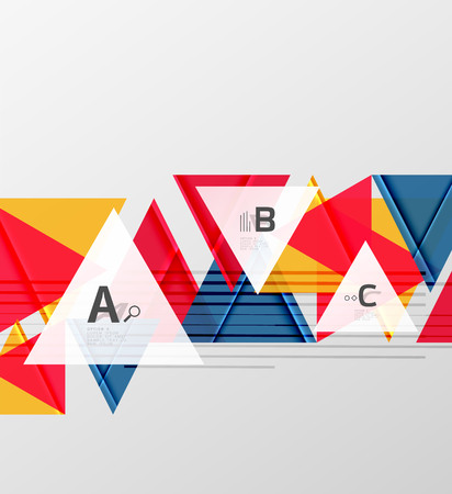 Triangles and geometric shapes abstract background. Vector illustration for your design Çizim