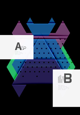 Triangles and geometric shapes abstract background. Vector illustration for your design 矢量图像