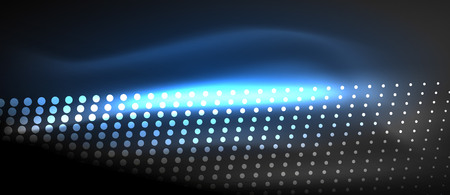 Neon light effects, particles template design. Illustration