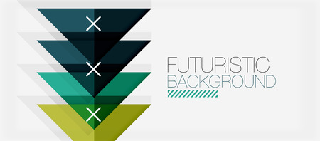 Minimalistic triangle modern banner design, geometric abstract background Illustration