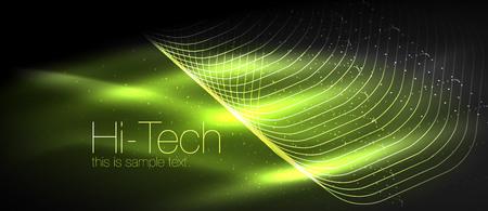 Hi-tech futuristic techno illustration.