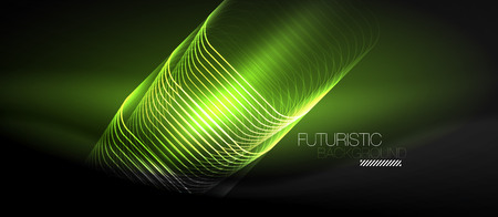 Neon glowing techno lines