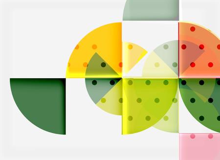 Circle elements on light background Vector illustration.