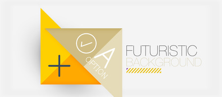 Minimalistic triangle modern banner design, geometric abstract background. Vector hi-tech futuristic Vectores