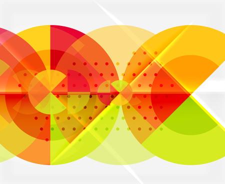 Elementi del cerchio su priorità bassa nera, disegno di modello geometrico di vettore Archivio Fotografico - 92063949