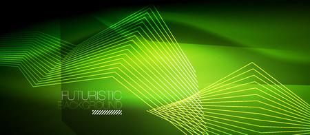Straight neon lines vector illustration. Иллюстрация