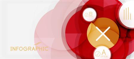 Paper geometric circle banner template.