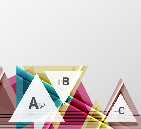 Colorful abstract shapes on white background illustration.