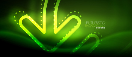 Techno neon glowing arrow background. Vector modern hi-tech technology abstract template. Illustration