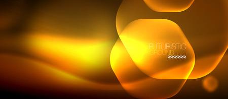 Neon hexagon vector abstract background Ilustração