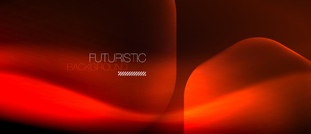 Neon red hexagon vector abstract background