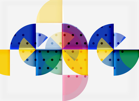 Geometric circle abstract banner. Vector illustration