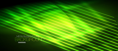 Neon green smooth wave digital abstract background.