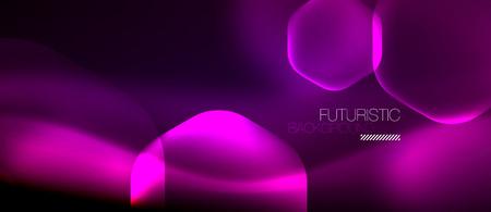 Neon purple hexagon vector abstract background