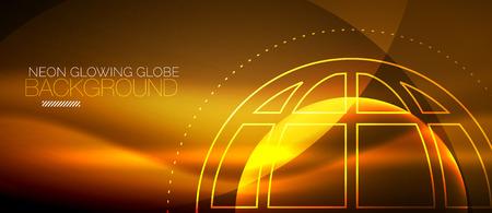 Techno globe concept design Vettoriali