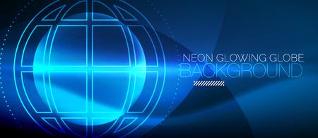 Techno globe concept design Illustration