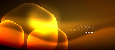 Neon hexagon background  イラスト・ベクター素材