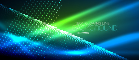 Neon smooth wave digital abstract background Ilustrace