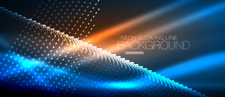 Neon smooth wave digital abstract background Illustration