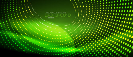 Neon vector smooth wave digital abstract background Illustration