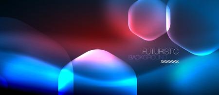 Neon hexagon vector abstract background Illustration