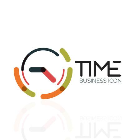 Vector abstract idea, time concept or clock business icon. Creative design template