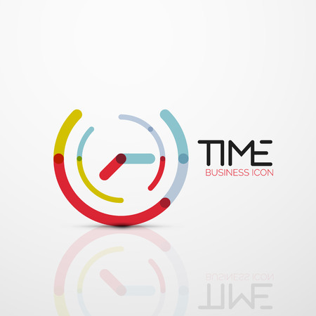 Vector abstract icon idea, time concept or clock business icon