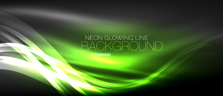 Neon elegant smooth wave lines digital abstract background.