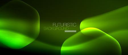 Neon hexagon background on colorful presentation. Illustration