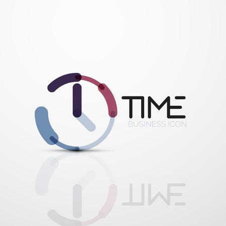 Vector abstract logo idea, time concept or clock business icon Logo