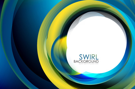 Spiral swirl flowing lines 3d effect abstract background, vector digital business or techno motion template. Illustration