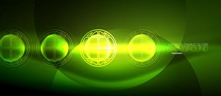 Techno globe concept Illustration