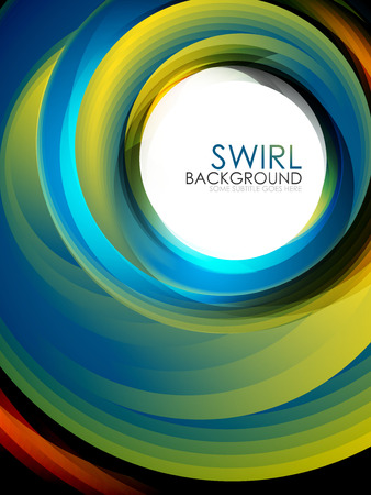 Spiral swirl flowing lines design