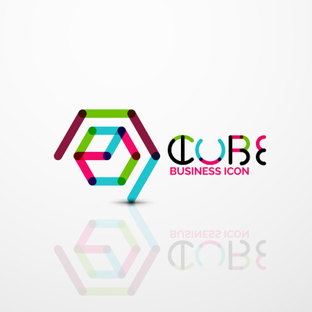 Cube idea concept logo vector illustration