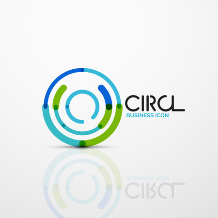 Abstract swirl lines symbol. Circle logo icon.
