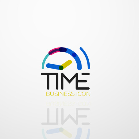 Vector abstract idea, time concept or clock business icon Vektorové ilustrace