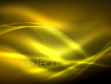 Neon flare waves outline image