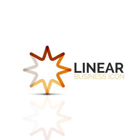 Geometric linear business icon illustration