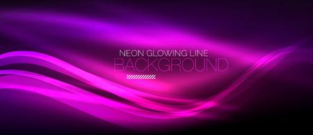 Neon purple elegant smooth wave lines digital abstract background Vector illustration.
