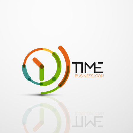 Vector abstract icon idea, time concept or clock business icon