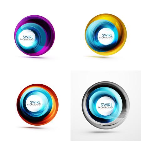 Set of abstract swirls design
