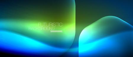 Neon futuristic background with blob design.
