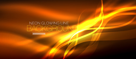 Neon elegant smooth wave lines vector digital abstract background