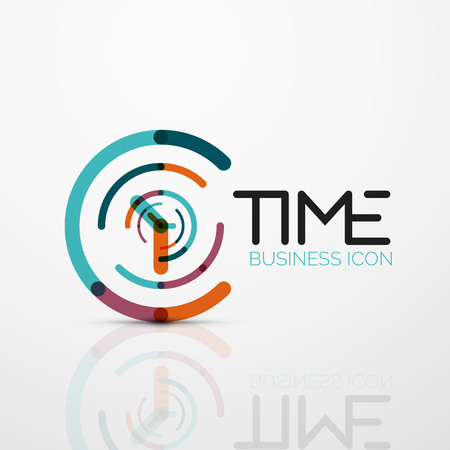 Vector abstract idea, time concept or clock business icon