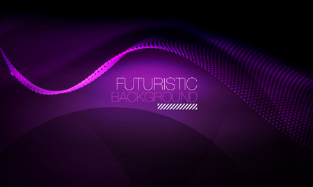 Smooth neon wave, futuristic background.