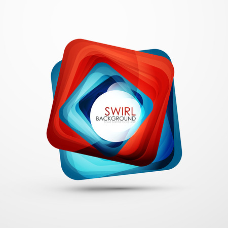 Square swirl abstract banner. Vectores