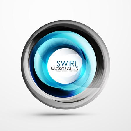 Abstract swirl banner Ilustração
